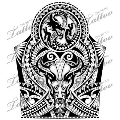 maori polynesian warrior sleeve stencil polynesian maori shoulder half sleeve