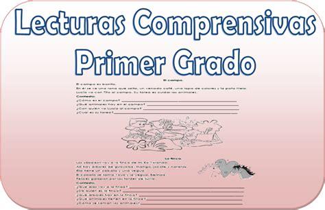 lectora para primer a tercer grado de primaria material educativo lecturas comprensivas para primer grado de primaria