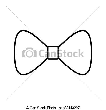 Black Bow Tie Drawing