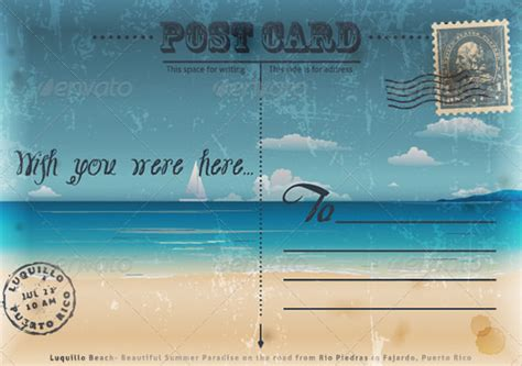 wish you were here postcard template 35 best vintage postcard design templates for