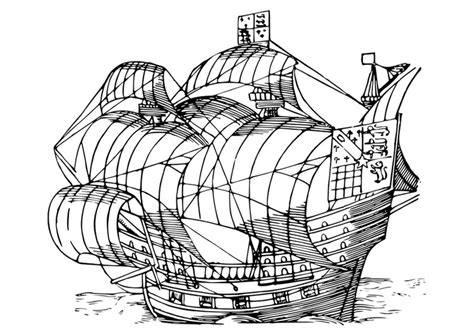 dibujo para colorear barco velero img 29853 - Dibujo Barco Velero Para Colorear