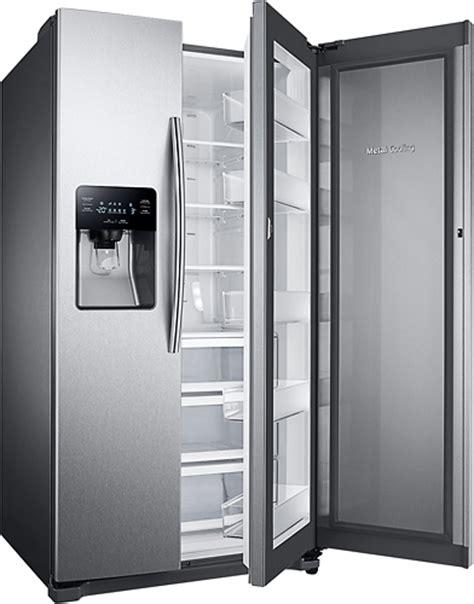 samsung refrigerator 24 7 cu ft side by side samsung 24 7 cu ft food showcase side by side