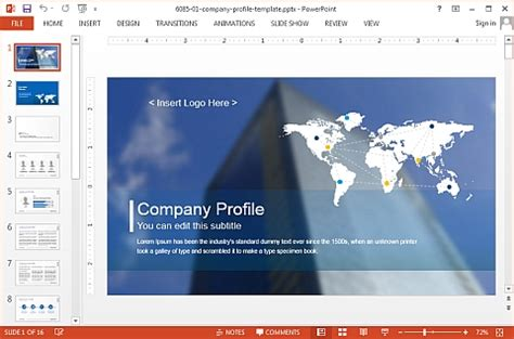 template powerpoint for company profile slidemodel com professional powerpoint templates for