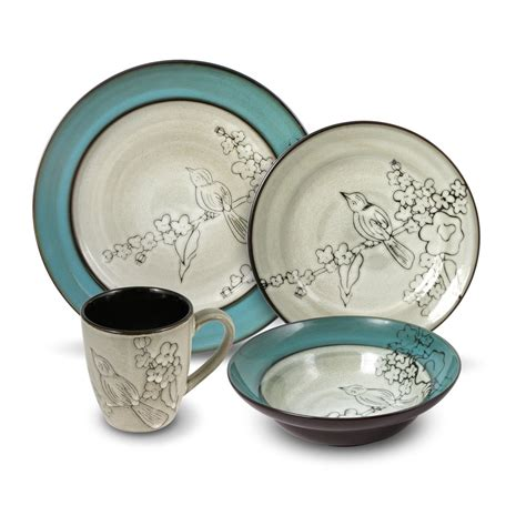 buy song bird 32 dinnerware set service for 8 at mikasa