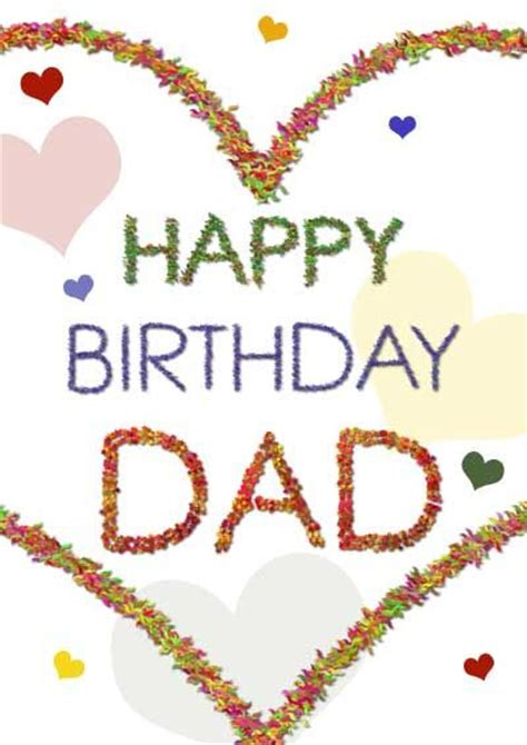 printable greeting cards for dads birthday birthday dad download happy birthday dad with hearts