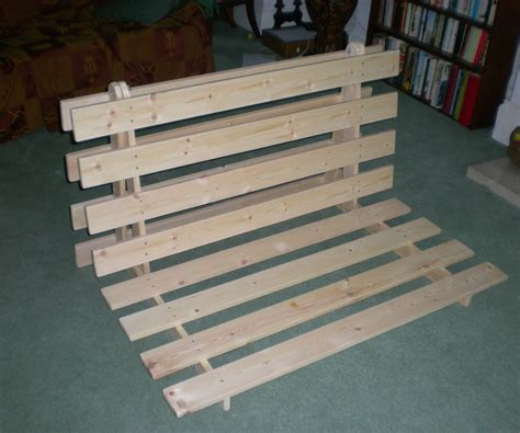 how to make a bed frame out of pallets how to make a fold out sofa futon bed frame 14 steps