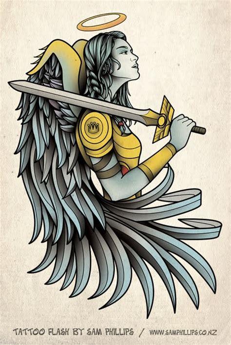 tattoo flash by sam phillips sams blog angel tattoo design