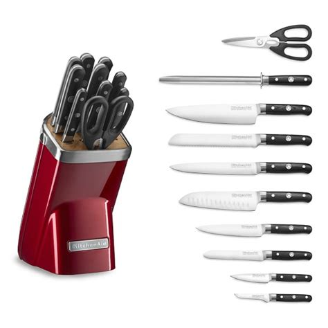 kitchen aid knives kitchenaid 174 11 piece professional knife set candy apple