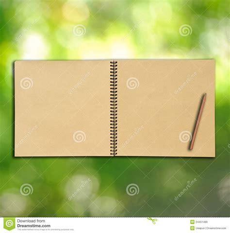 vintage sketch book open vintage sketch book on green background royalty free