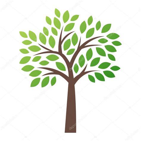 albero clipart icona di logo albero stilizzato vettoriale vettoriali