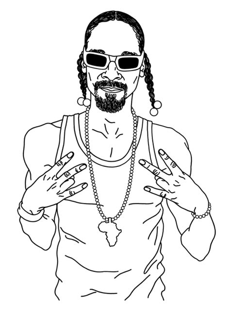 coloring page of snoop dog easy tumblr drawing coloring pages