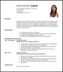 Plantilla Curriculum Empleada De Hogar Modelo Curriculum Vitae Auxiliar De Ventas De Macy S Livecareer