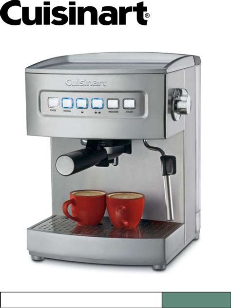 Coffee Maker Manual cuisinart espresso maker em 200 user guide manualsonline
