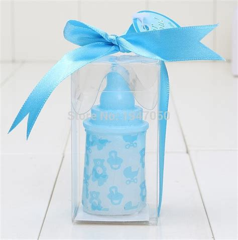 Baby Shower Wholesale Favors by Wholesale Baby Bottle Candle Baby Pink Blue Baby Bottle