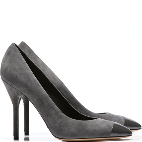 yves laurent opyum grey suede and leather court