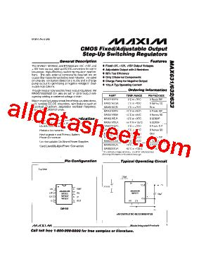 maxim integrated products korea max631 데이터시트 pdf maxim integrated products