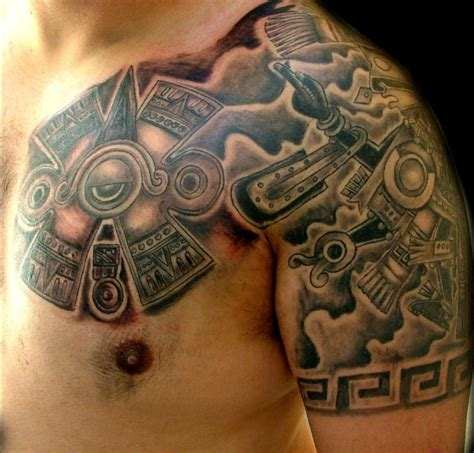 tattoos aztec chest tattoos page 10