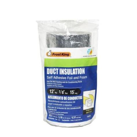 e o 12 in x 15 ft self stick foam foil duct insulation