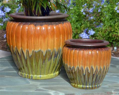 Transitional Dining Room Sets vietnamese outdoor glazed ceramic pumpkin pots handmade