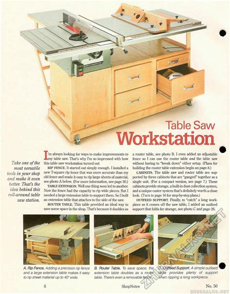 table saw woodworking plans 50 table saw workstation страница 6