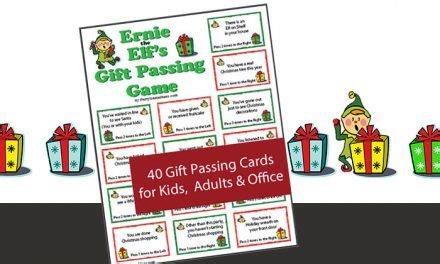 elf gift passing game free twas the before printable
