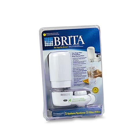 brita bed bath and beyond buy brita 174 on tap white faucet mount filtration system