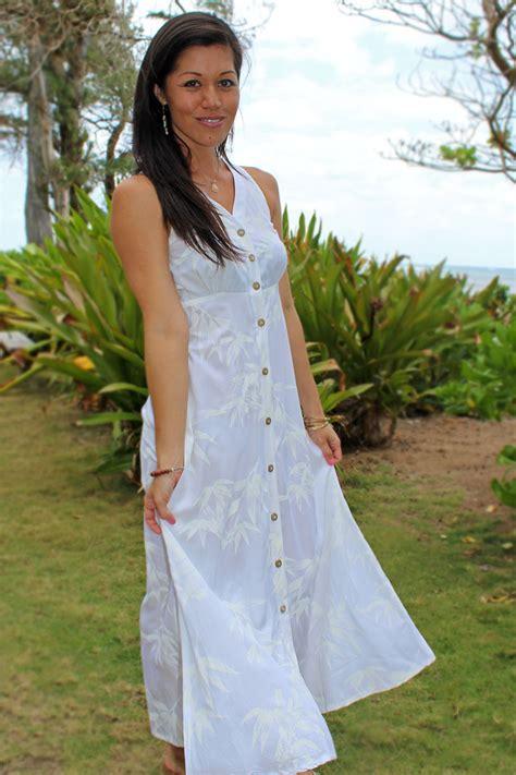 Hawaiian Style Wedding Dresses by Bamboo Garden White Wedding Dress
