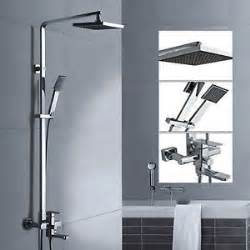 bath tap showers 8 quot wall mounted square bath shower rail including shower arm mixer tap set ebay 160