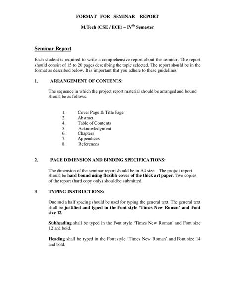 layout of seminar paper m tech seminar