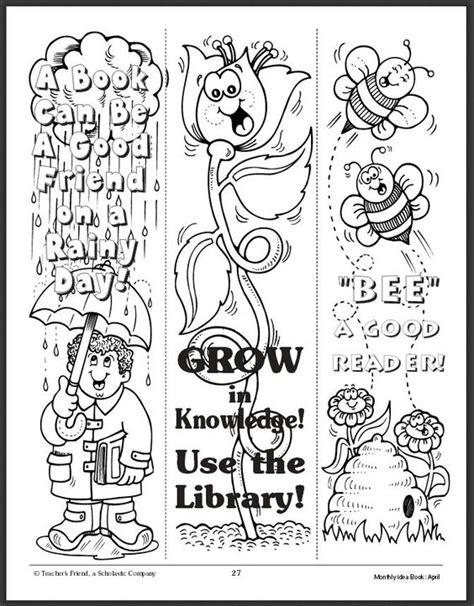 printable bookmarks spring free download spring bookmarks school pinterest