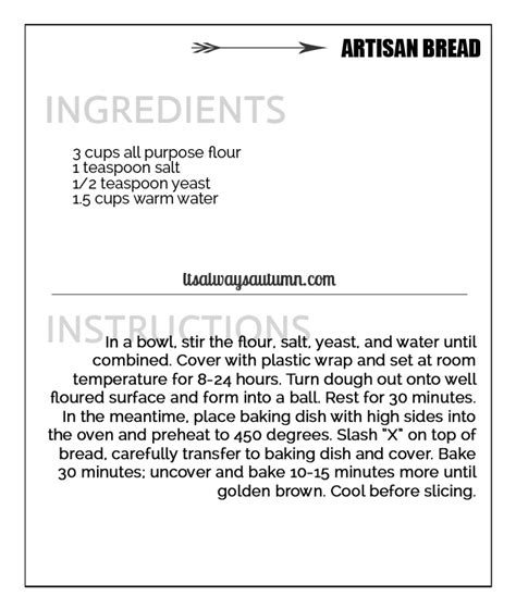 how to make a recipe card artisan bread easiest bread recipe it s
