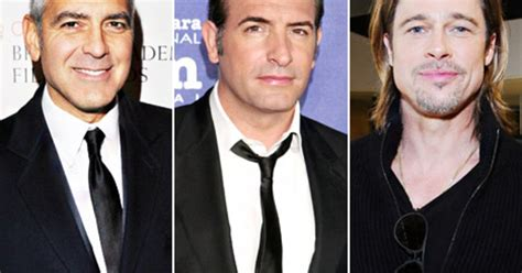 Brad Pitt George Clooney Do Entertainment Weekly by Oscars 2012 Meet The Best Actor Nominees Us Weekly