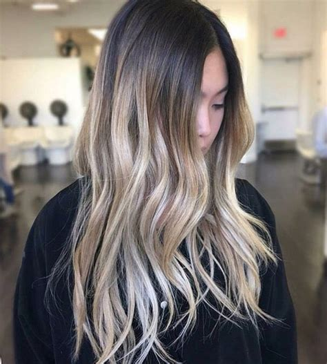brown on blonde hair fade dark brown hairs color melt ombre bright blonde on naturally dark hair