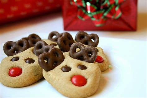 cute christmas baking ideas reindeer cookies recipe cooking