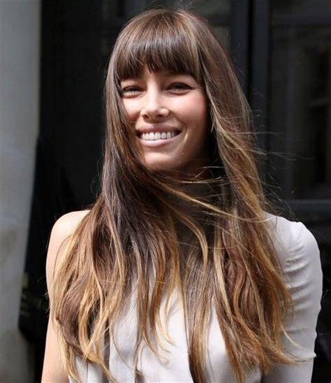 image result for blunt bangs and balayage coiffure coiffures m 232 ches et beaut 233 image result for biel bangs hair with bangs cheveux coiffure et coupe