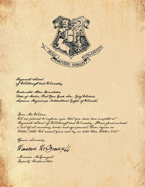 Harry Potter Hogwarts Letter Www Imgkid Com The Image Kid Has It Harry Potter Letter Template 2
