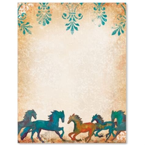 painted horses border papers paperdirect
