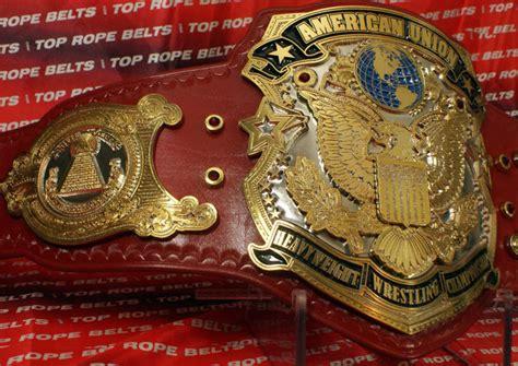 american union heavyweight wrestling championship belt