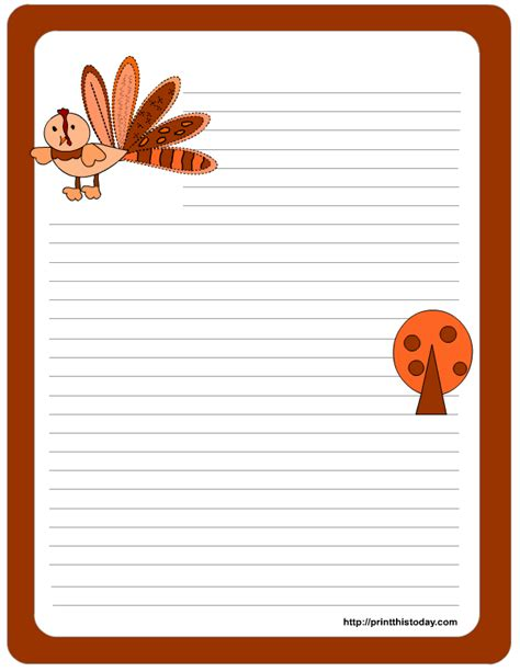 printable fall stationery paper 9 best images of fall paper printable stationary cute