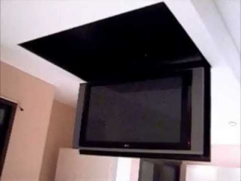 Ceiling Mounted Tv Lift by Motorized Flip Tv Lift From The Ceiling