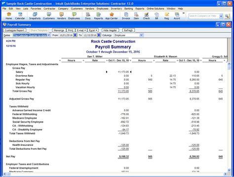 payroll summary report template qodbc desktop how to run payroll summary report