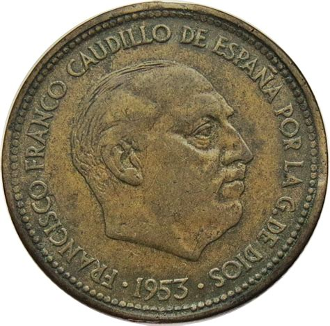 franco caudillo de espana 2 189 pesetas francisco franco spain numista