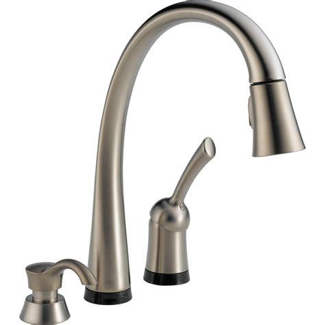 delta savile stainless kitchen faucet