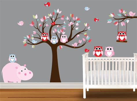 Owl Wall Decals Nursery Wall Decals Vinyl Art Ebay Owl Wall Decals For Nursery