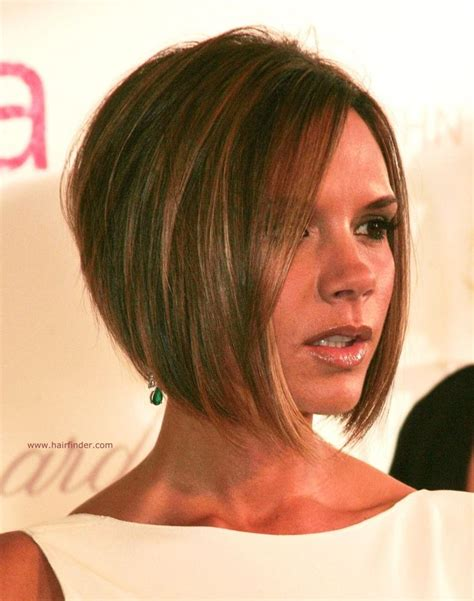 short hair at back longer on top stacked bob haircut pictures victoria beckham longer in