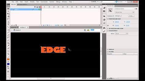 tutorial flash cs5 website create a flash cs5 intro movie with motion part 1 youtube