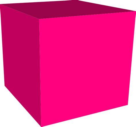 pink cube clip at clker vector clip