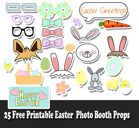 printable easter photo booth props 700 free printable photo booth props