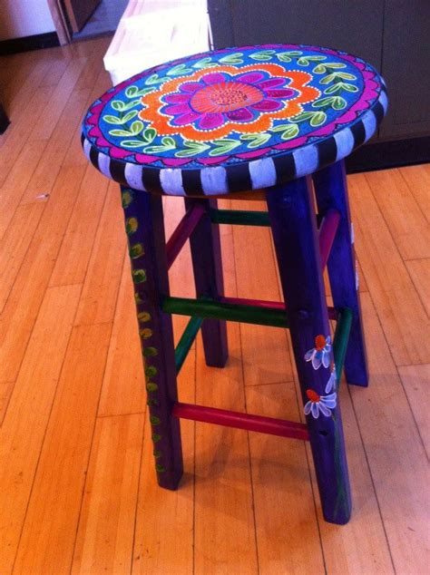 best 20 hand painted stools ideas on pinterest 1035 best funky furniture images on pinterest funky