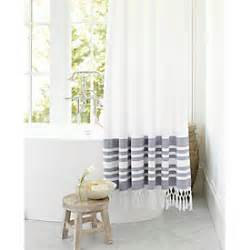 Burlap Shower Curtain With Bullion Fringe by Burlap Shower Curtain With Bullion Fringe Ballard Designs